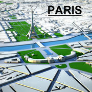 Paris Cityscape 3d model