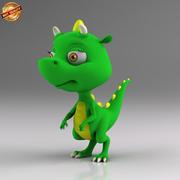 Kreskówka mały dinozaur 3d model
