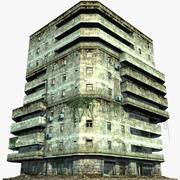 Abandoned Apartment Building 03 3d model