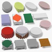 Tableclothes Large Set 3d model