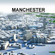 Paisagem urbana de Manchester 3d model