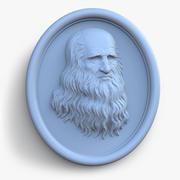 Leonardo da Vinci portrait 3d model