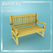 Bench # 3 Low Poly per Game Dev 3d model