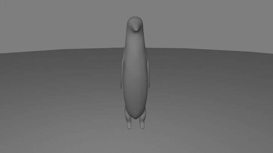 Penguin royalty-free 3d model - Preview no. 5