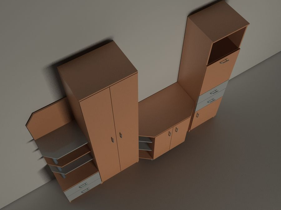 kast meubilair royalty-free 3d model - Preview no. 3
