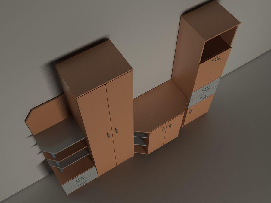 dolap mobilya royalty-free 3d model - Preview no. 3