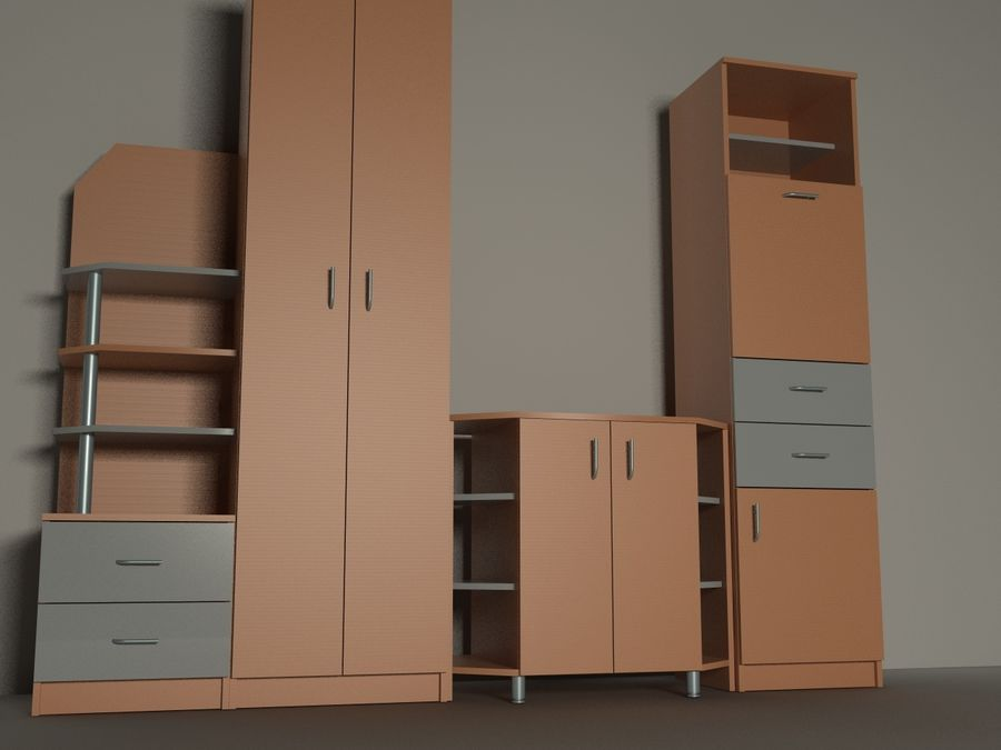kast meubilair royalty-free 3d model - Preview no. 1