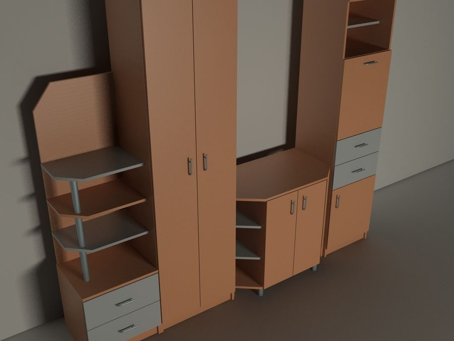 kast meubilair royalty-free 3d model - Preview no. 2