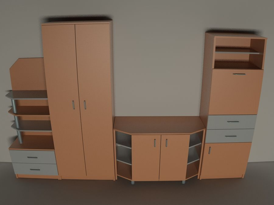 kast meubilair royalty-free 3d model - Preview no. 5