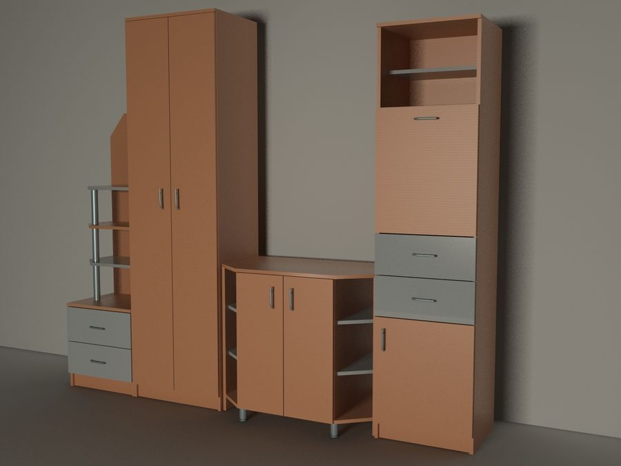 kast meubilair royalty-free 3d model - Preview no. 4