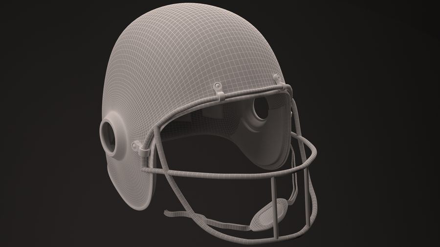 Casque de football américain royalty-free 3d model - Preview no. 3