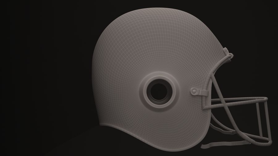Casque de football américain royalty-free 3d model - Preview no. 4