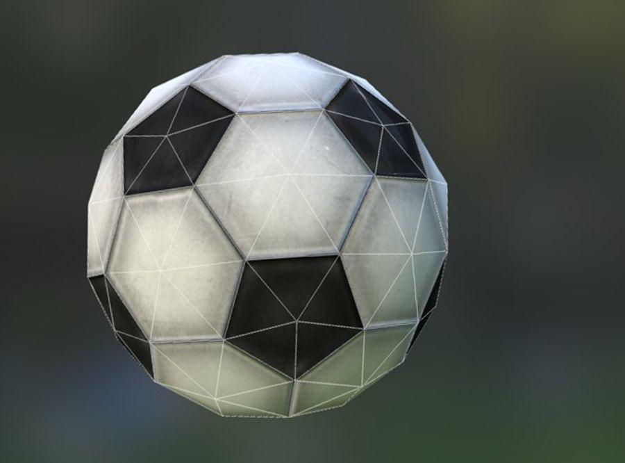 Game-Ready Soccerball royalty-free 3d model - Preview no. 4
