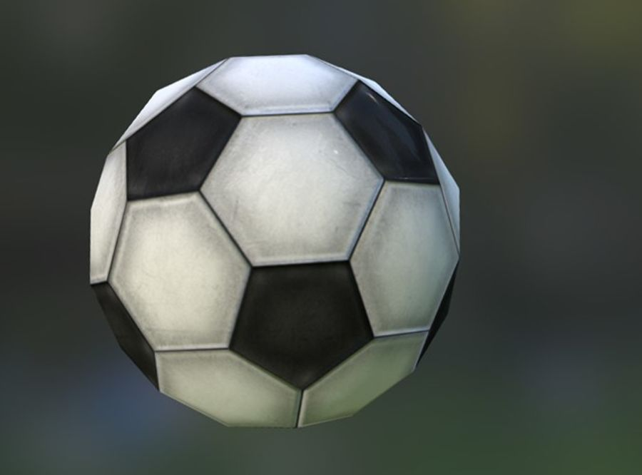 Game-Ready Soccerball royalty-free 3d model - Preview no. 3