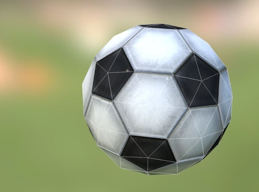 Game-Ready Soccerball royalty-free 3d model - Preview no. 2