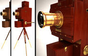 Vecchia macchina fotografica vintage 3d model