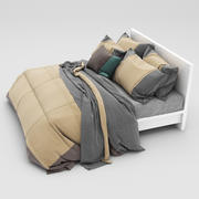 Bed collection 33 3d model
