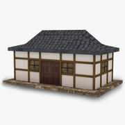 Tempio asiatico 3d model