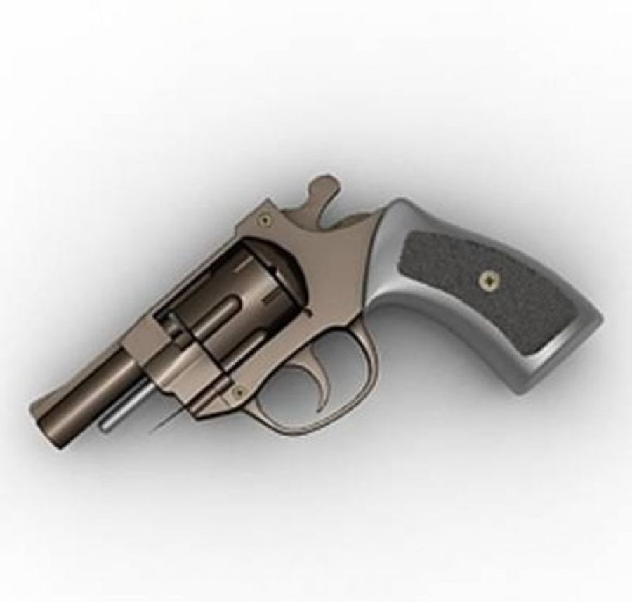 arma 3d detalhada royalty-free 3d model - Preview no. 3