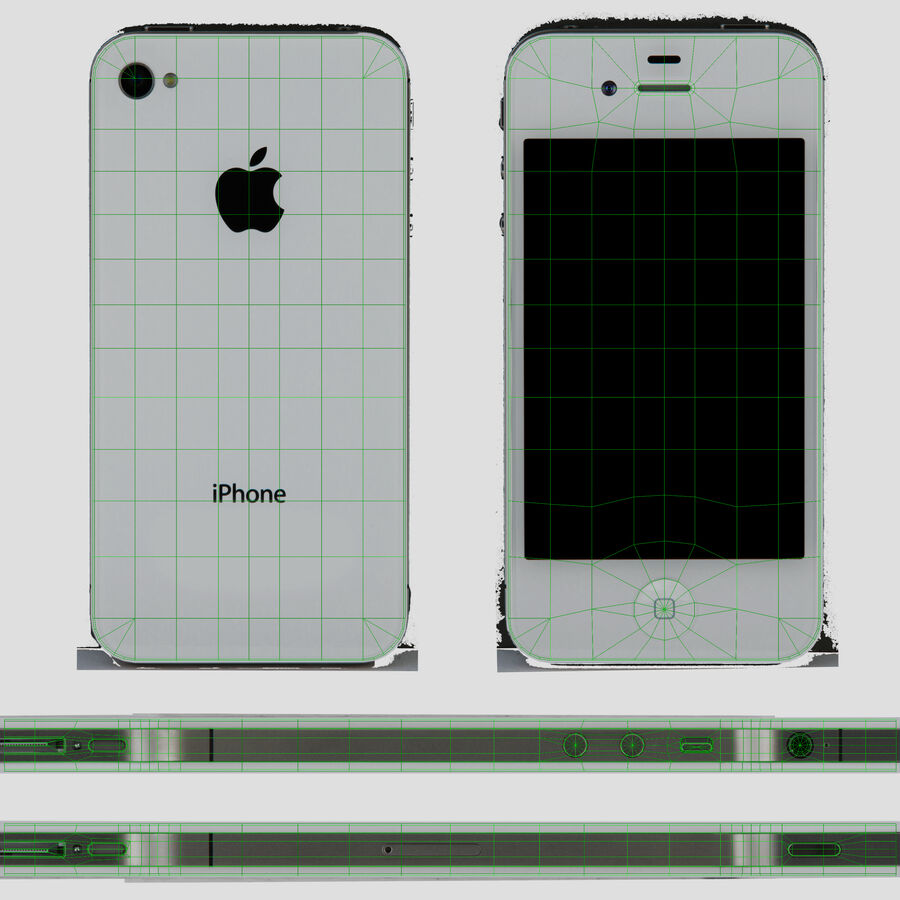 Apple iPhone 4 royalty-free 3d model - Preview no. 19