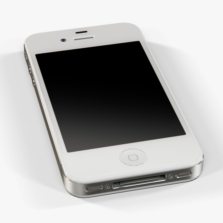 Apple iPhone 4 royalty-free 3d model - Preview no. 13