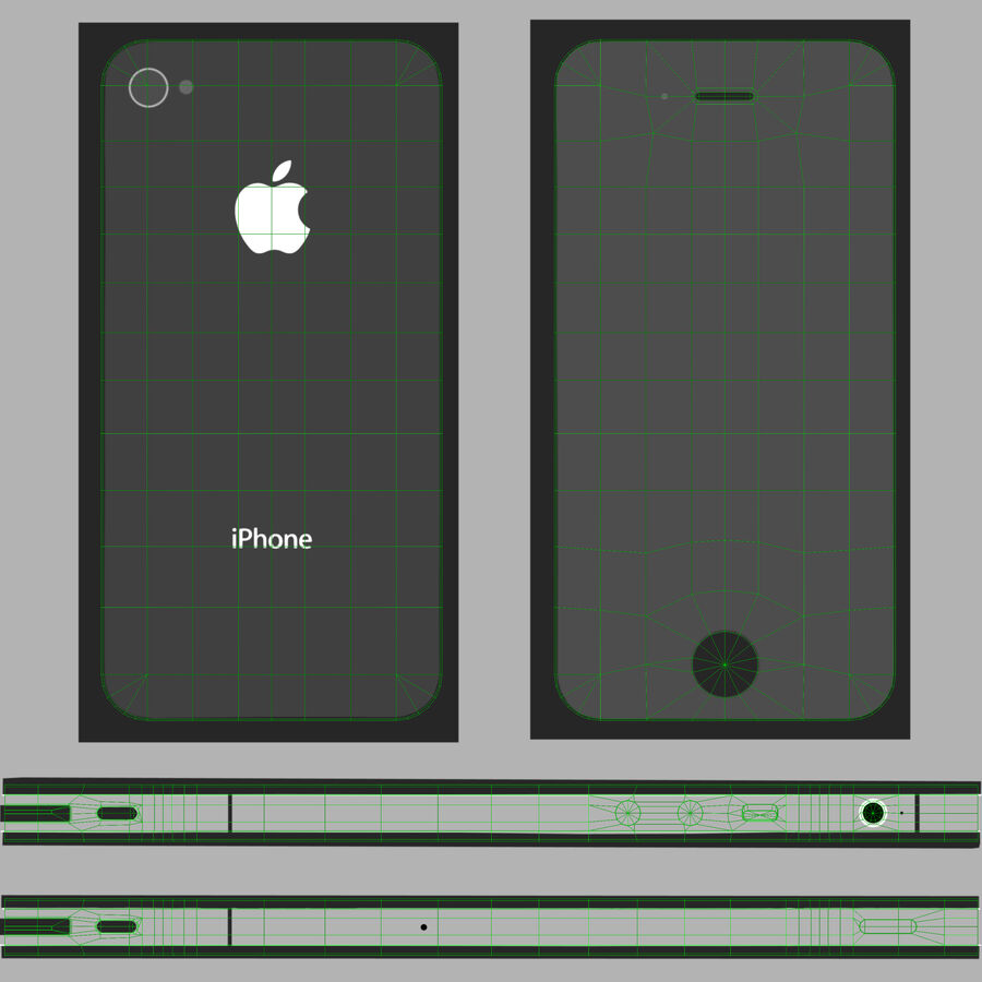 Apple iPhone 4 royalty-free 3d model - Preview no. 22