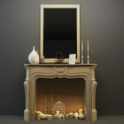 decor fireplace 3d model
