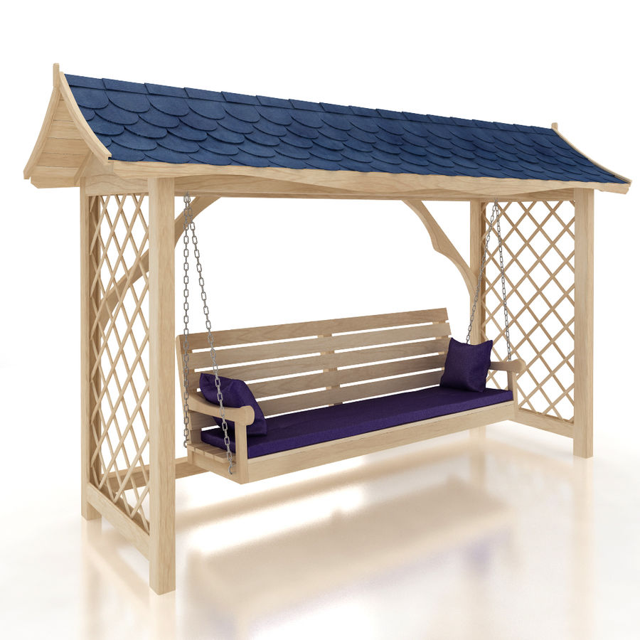 Garden swing royalty-free 3d model - Preview no. 1