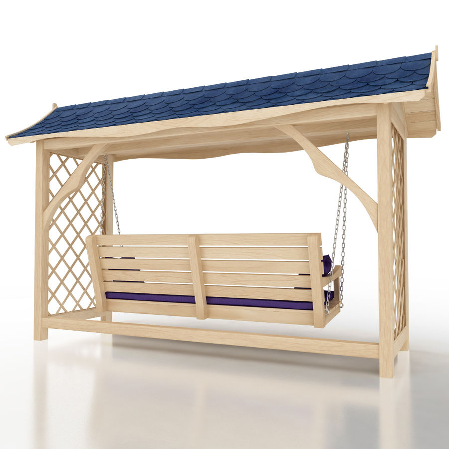 Garden swing royalty-free 3d model - Preview no. 3