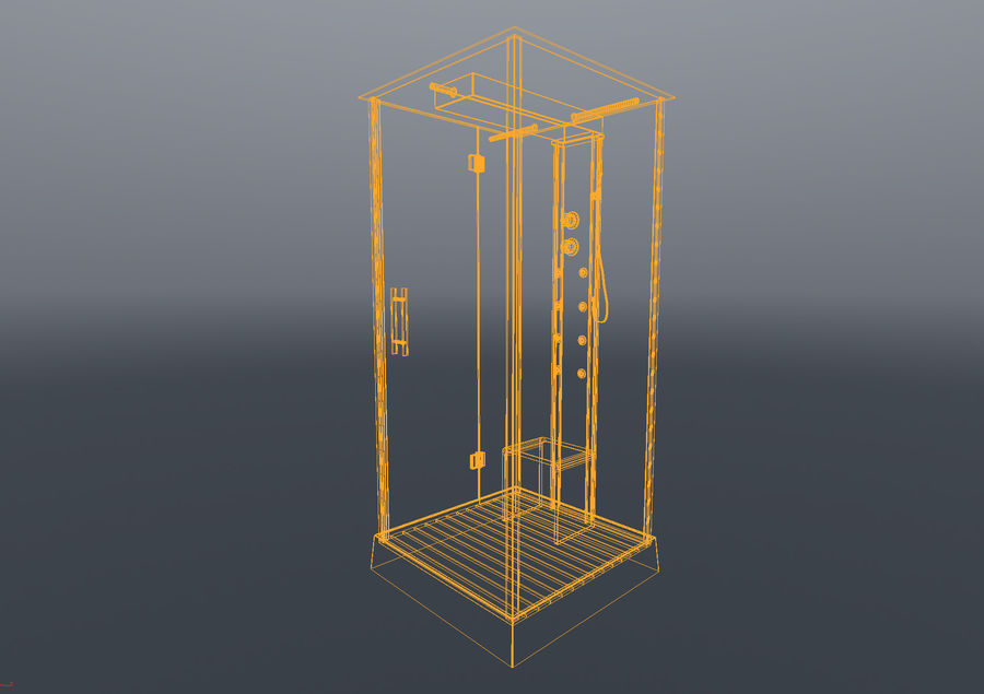 Bathroom shower corners bath corners collection volume royalty-free 3d model - Preview no. 5
