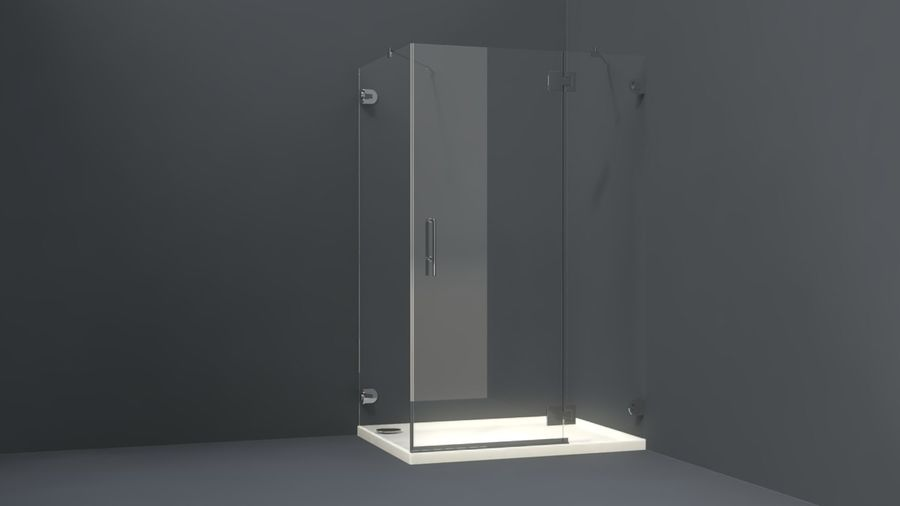 Bathroom shower corners bath corners collection volume royalty-free 3d model - Preview no. 3