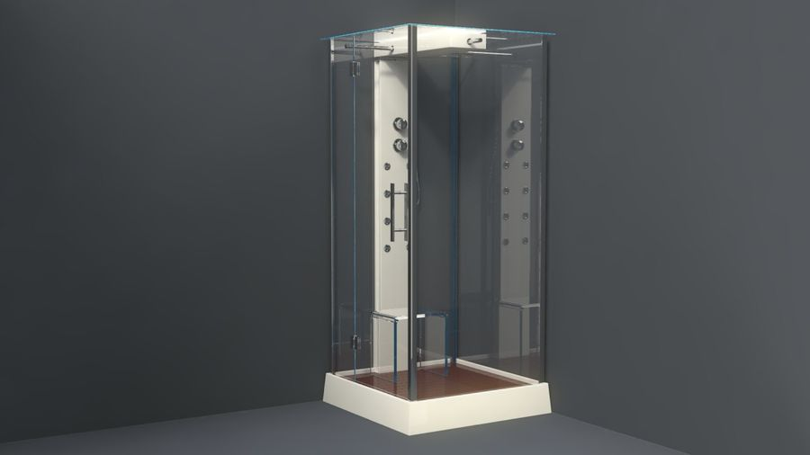 Bathroom shower corners bath corners collection volume royalty-free 3d model - Preview no. 4