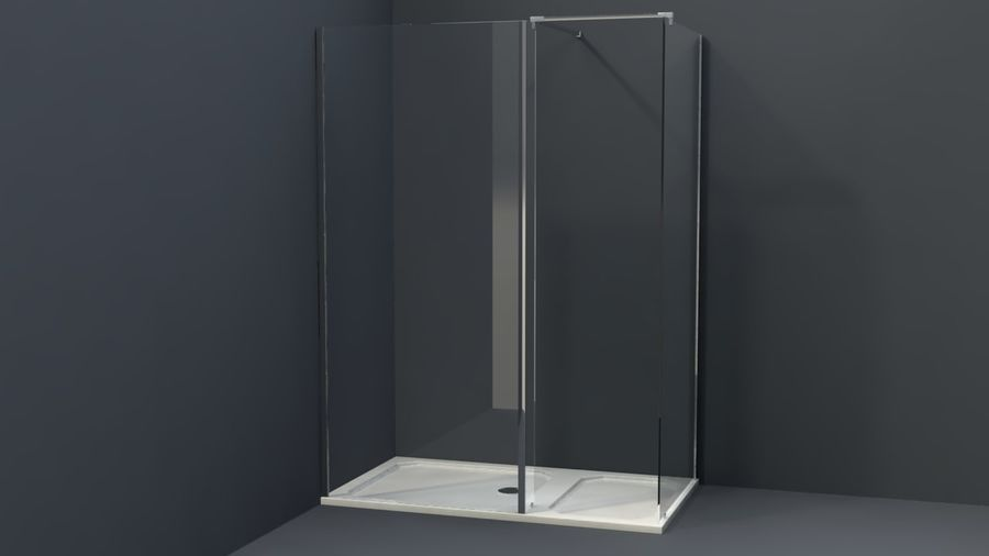 Bathroom shower corners bath corners collection volume royalty-free 3d model - Preview no. 8