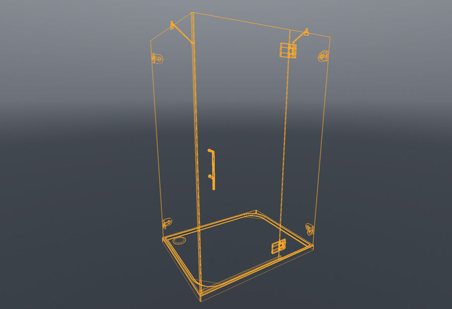Bathroom shower corners bath corners collection volume royalty-free 3d model - Preview no. 7