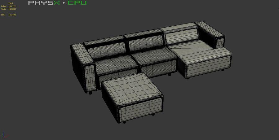 BoConcept Carmo Sofa Set royalty-free 3d model - Preview no. 22