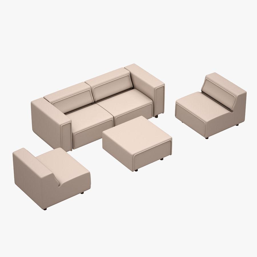BoConcept Carmo Sofa Set royalty-free 3d model - Preview no. 8
