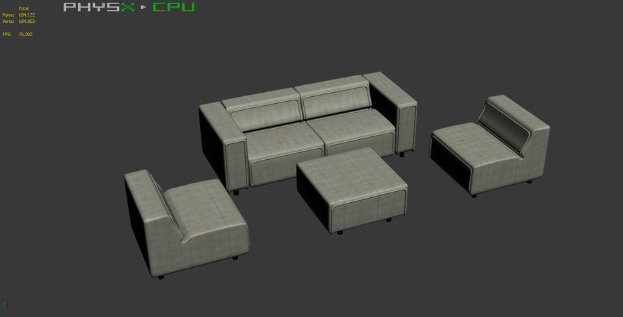 BoConcept Carmo Sofa Set royalty-free 3d model - Preview no. 19
