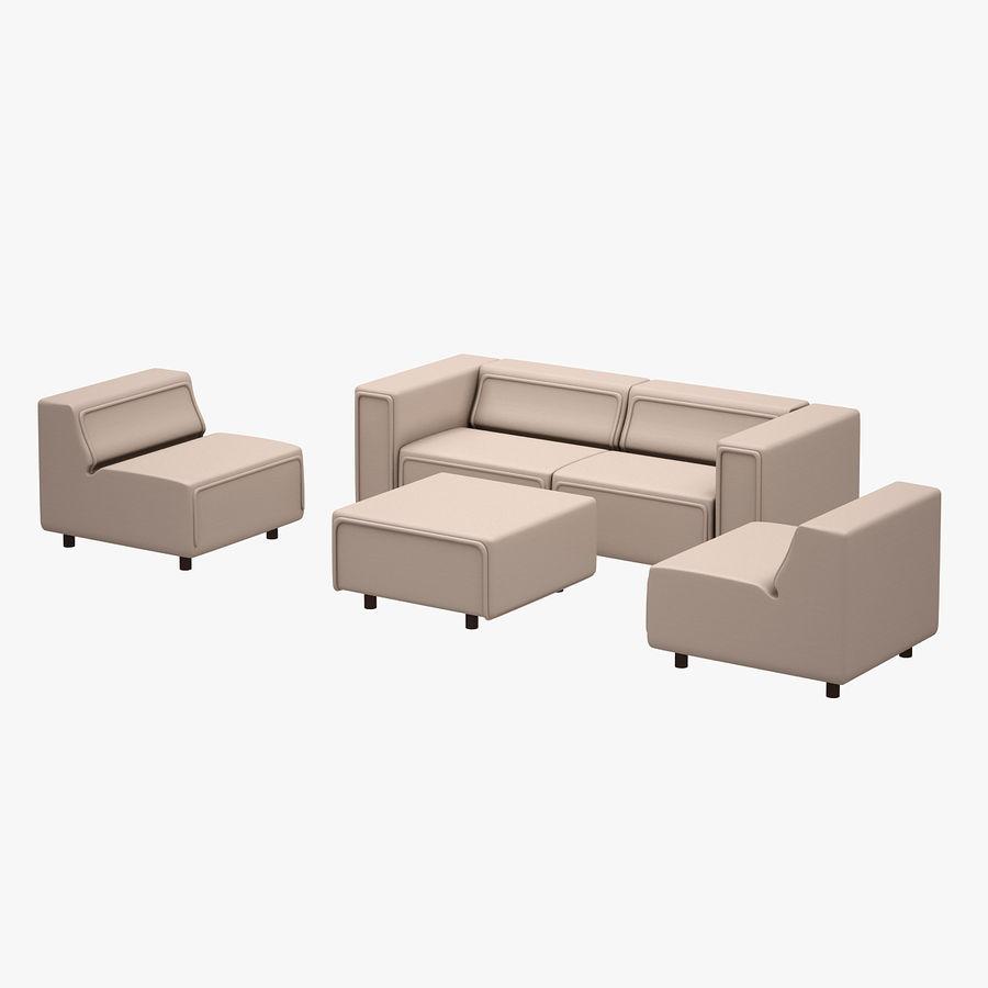 BoConcept Carmo Sofa Set royalty-free 3d model - Preview no. 6