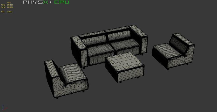 BoConcept Carmo Sofa Set royalty-free 3d model - Preview no. 20