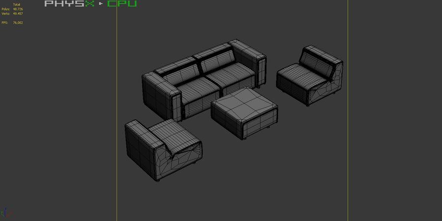 BoConcept Carmo Sofa Set royalty-free 3d model - Preview no. 18