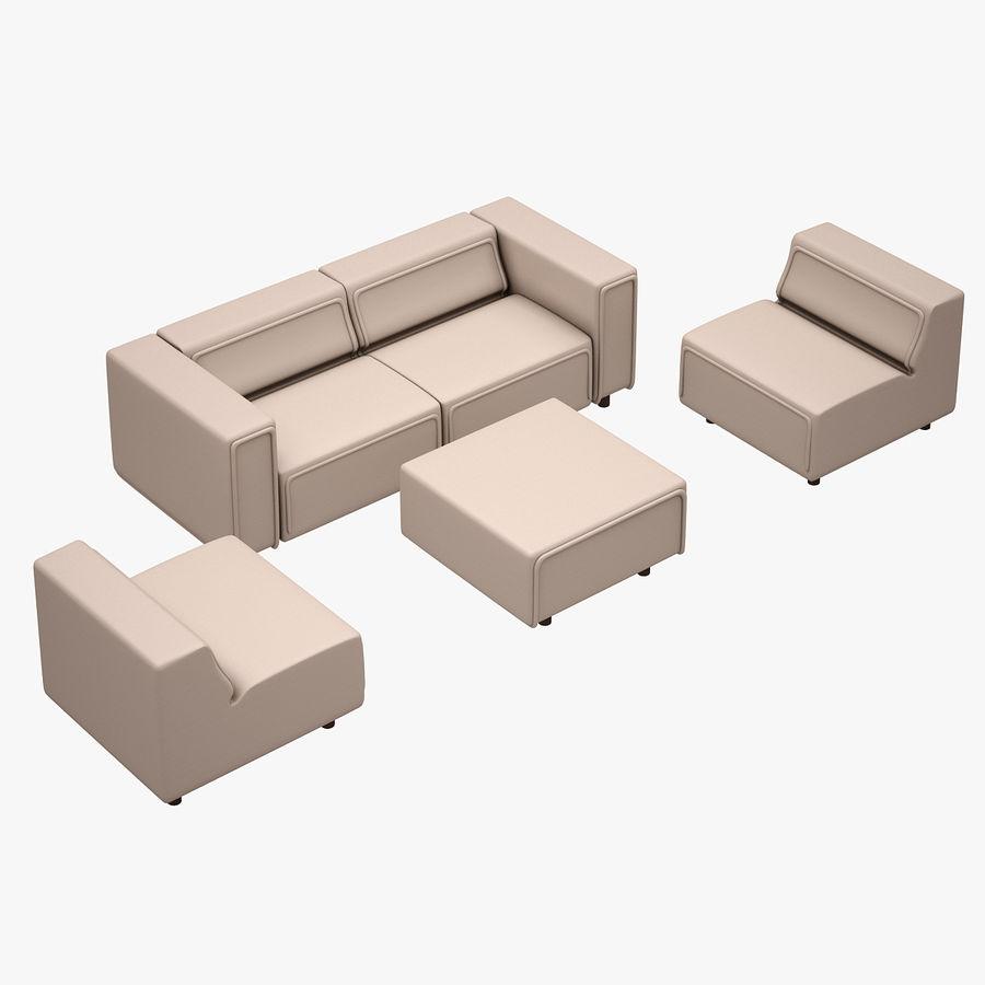 BoConcept Carmo Sofa Set royalty-free 3d model - Preview no. 2