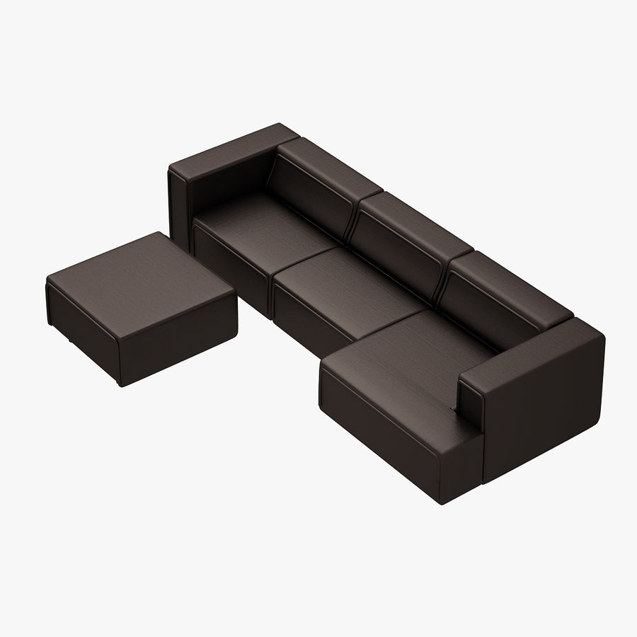 BoConcept Carmo Sofa Set royalty-free 3d model - Preview no. 5