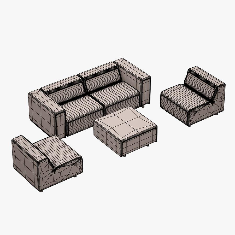 BoConcept Carmo Sofa Set royalty-free 3d model - Preview no. 16