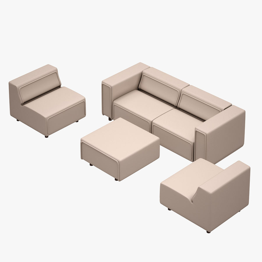 BoConcept Carmo Sofa Set royalty-free 3d model - Preview no. 4