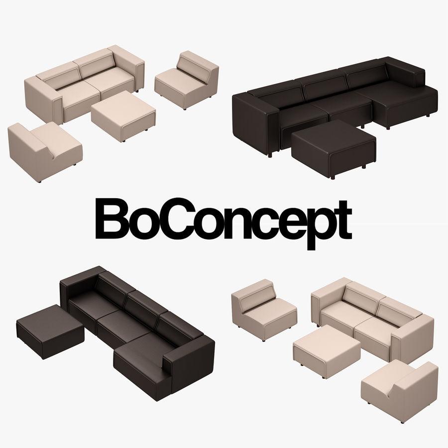 BoConcept Carmo Sofa Set royalty-free 3d model - Preview no. 1