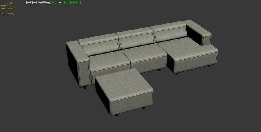 BoConcept Carmo Sofa Set royalty-free 3d model - Preview no. 21