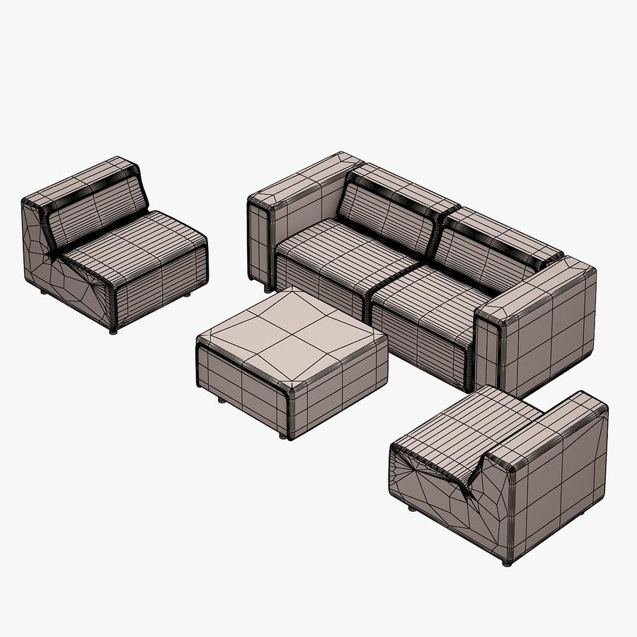 BoConcept Carmo Sofa Set royalty-free 3d model - Preview no. 12