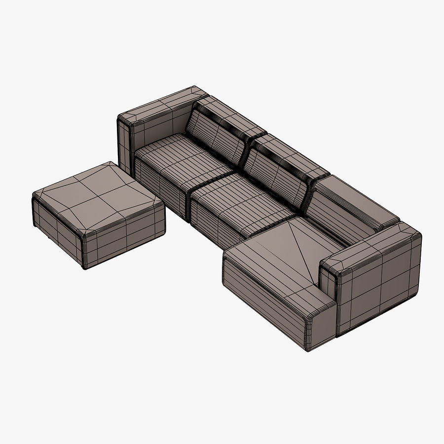 BoConcept Carmo Sofa Set royalty-free 3d model - Preview no. 13