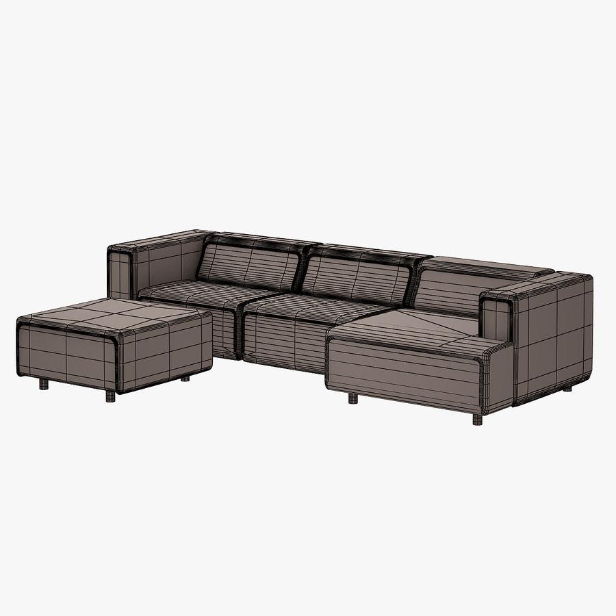 BoConcept Carmo Sofa Set royalty-free 3d model - Preview no. 15