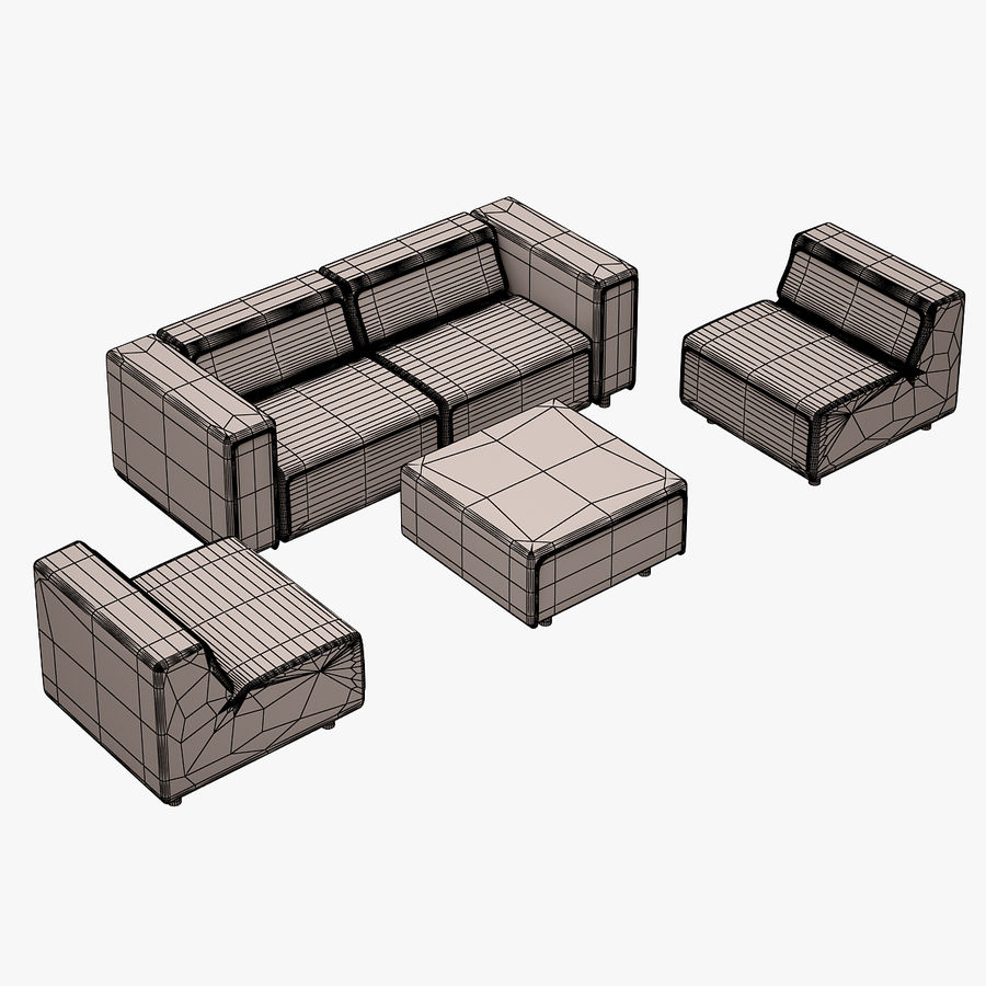 BoConcept Carmo Sofa Set royalty-free 3d model - Preview no. 10
